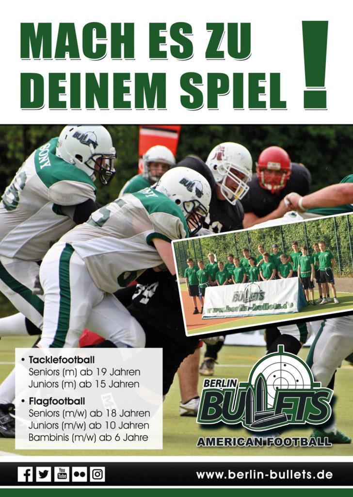 zeigt das Image Plakat der Bullets mit Teamfoto Gunslingers
