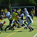 Bullets vs Mountain Tigers Senior Tackle 07.05.2017 Spielszene Defense
