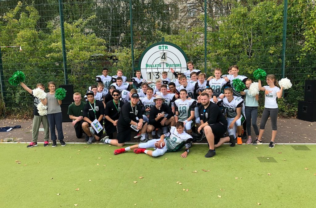 Teamfoto Bullets B-Jugend vs Thunderbirds 16.09.2018 Endstand 13-0 weboptimiert