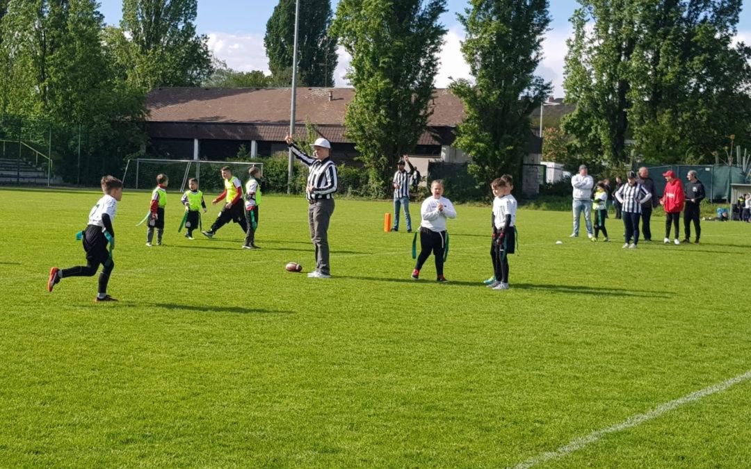 Erstes Turnier für unsere Bambinis in der Flag Football Liga Berlin Brandenburg Bambini